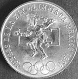 メキシコオリンピック大会記念銀貨 西暦1968年