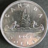 カナダ銀貨 西暦1948年