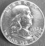 フランクリン銀貨 西暦1952年