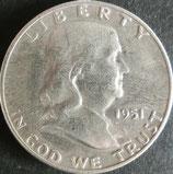 フランクリン1/2$銀貨  西暦1951年