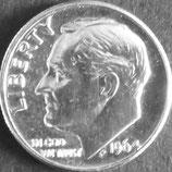 ワシントン銀貨 西暦1964年