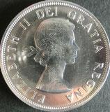 カナダ銀貨 西暦1962年