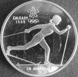 カナダ銀貨 西暦1988年