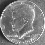 ケネディ1/2ドル  西暦1976年