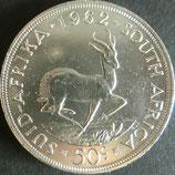南アフリカ共和国銀貨 西暦1962年
