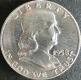 フランクリン1/2$銀貨 西暦1958年