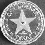 アメリカ テキサス州プルーフ銀貨 西暦2002年