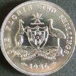 オーストラリア銀貨 西暦1936年