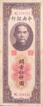 中央銀行 五千圓