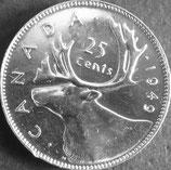 カナダ銀貨 西暦1949年