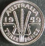 オーストラリア銀貨 西暦1959年