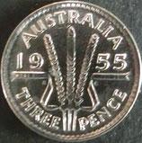 オーストラリア銀貨 西暦1955年