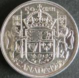 カナダ銀貨 西暦1953年