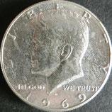 ケネディ銀貨 西暦1969年