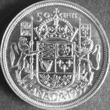 カナダ銀貨 西暦1955年