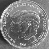イギリス記念貨 西暦1981年