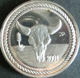 テキサスドル銀貨 西暦2001年