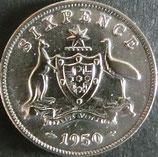 オーストラリア銀貨 西暦1950年