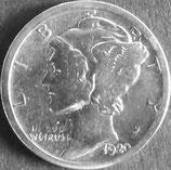マーキュリー銀貨 西暦1920年