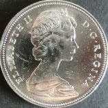 カナダ銀貨 西暦1966年
