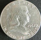 フランクリン1/2$銀貨 西暦1962年