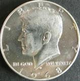 ケネディ銀貨 西暦1968年