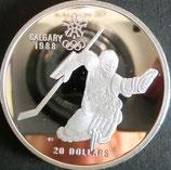 カナダオリンピックプルーフ銀貨 西暦1988年