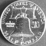 フランクリン銀貨 西暦1962年