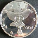 アメリカテキサスプルーフ銀貨 西暦2004年