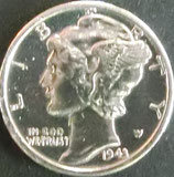 マーキュリ銀貨 西暦1943年