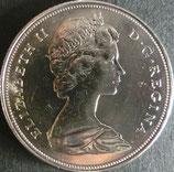 カナダ銀貨 西暦1972年