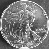 ウォーキング・リバティ1/2銀貨 西暦1943年