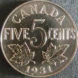 カナダ銀貨 西暦1931年