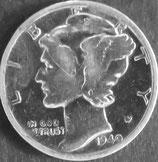 マーキュリー10セント銀貨 西暦1940年