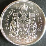 カナダ銀貨 西暦1964年