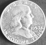 フランクリン1/2ドル銀貨 西暦1958年