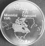 カナダオリンピック記念銀貨 西暦1976年