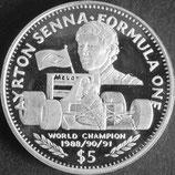 リベリア銀貨 西暦1992年