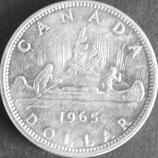 カナダ記念銀貨 西暦1965年