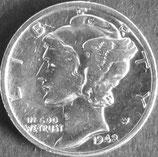 マーキュリー銀貨 西暦1942年