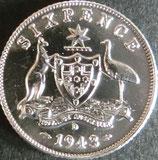 オーストラリア銀貨 西暦1943年