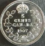 カナダ銀貨 西暦1907年