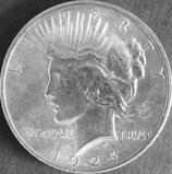 ピース1ドル銀貨  西暦1924年