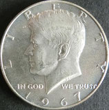 ケネディ銀貨 西暦1967年