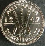 オーストラリア銀貨 西暦1947年