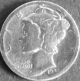 マーキュリー銀貨 西暦1941年