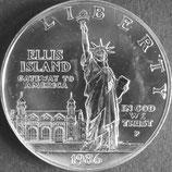 自由の女神記念1ドルプルーフ銀貨 西暦1986年