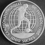 エクアドル銀貨 西暦1986年