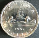 カナダ銀貨 西暦1957年