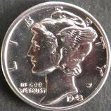 マーキュリー銀貨 西暦1943年